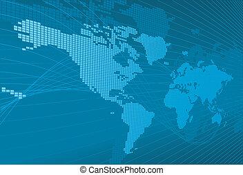 Un mapa del mundo dinámico con fondo