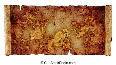 Un mapa del pergamino antiguo