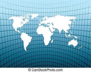 Un mapa grande