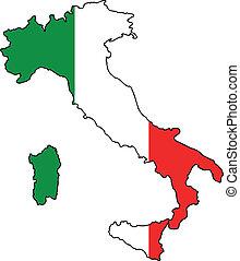 Un mapa italiano
