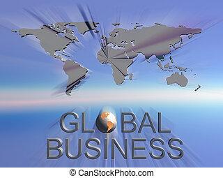 Un mapa mundial de negocios