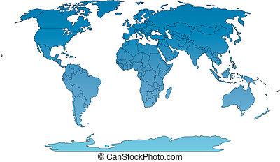 Un mapa mundial de robos con países