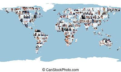 Un mapa mundial hecho de imágenes