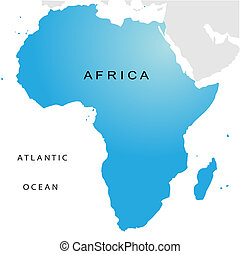 Un mapa político de África