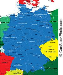 Un mapa político de Alemania