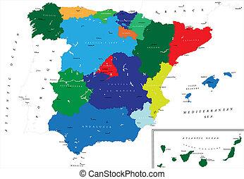 Un mapa político de España