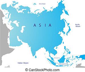 Un mapa político de la eurasia
