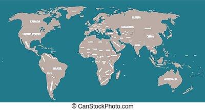 Un mapa político del mundo