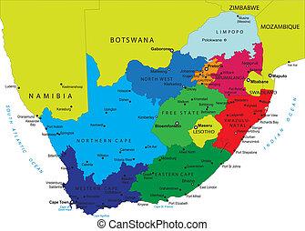 Un mapa político del sur de África