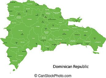 Un mapa republicano dominicano