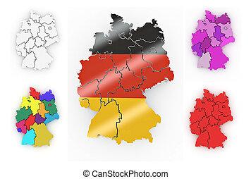 Un mapa tridimensional de Alemania
