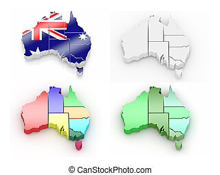 Un mapa tridimensional de Australia