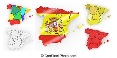 Un mapa tridimensional de España