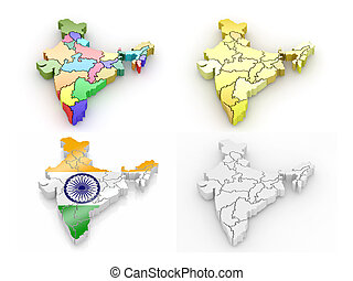 Un mapa tridimensional de la India