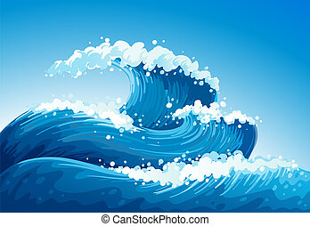 Un mar con olas gigantes