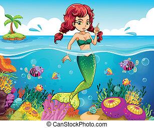 Un mar con sirena