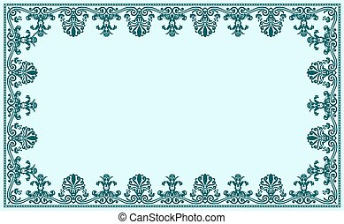 Un marco antiguo de decoración barroca. Ilustración de vectores