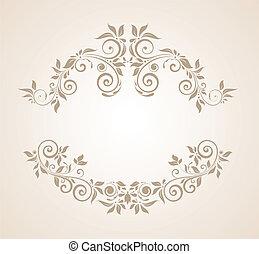 Un marco antiguo de flores
