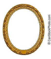 Un marco antiguo oval