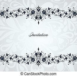 Un marco azul floral. Profundidad del vector