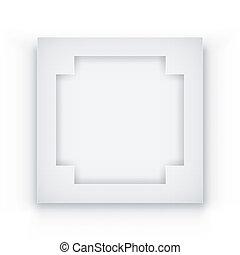 Un marco blanco