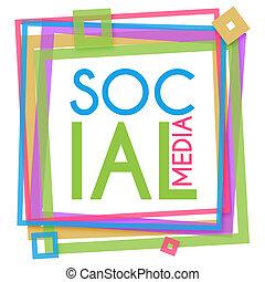 Un marco colorido de las redes sociales