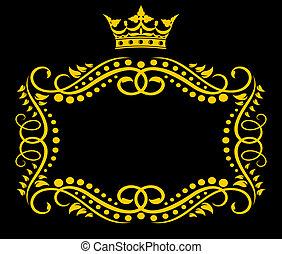 Un marco con corona