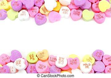 Un marco de caramelo de San Valentín