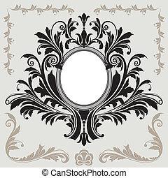 Un marco de decoración floral