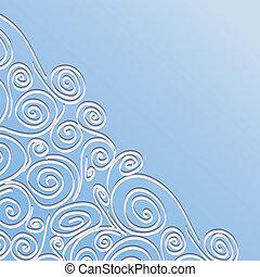 Un marco de encaje con espirales