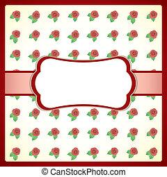 Un marco de encaje con rosas