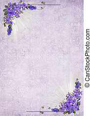Un marco de flores de lila