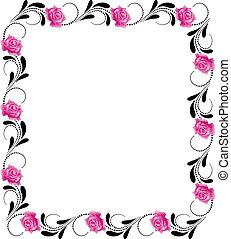 Un marco de flores decorativas