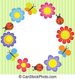 Un marco de flores