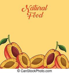 Un marco de frutas naturales