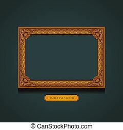 Un marco de imagen en la pared.