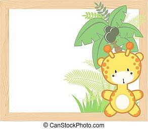 Un marco de jirafa bebé
