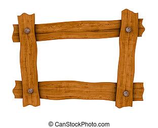 Un marco de madera