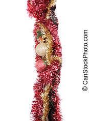 Un marco de Navidad aislado en el blanco.