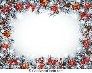Un marco de Navidad
