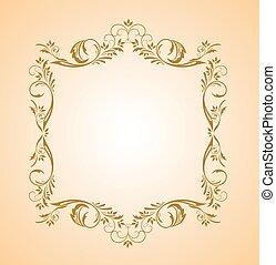Un marco de oro floral