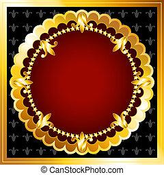 Un marco de oro lujoso