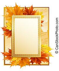 Un marco de otoño