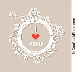 Un marco de papel con un saludo para ti