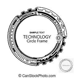 Un marco de tecnología abstracta circular