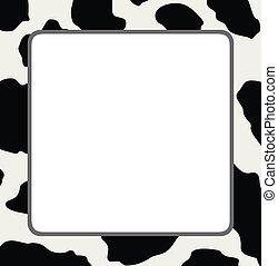 Un marco de vector con textura abstracta de piel de vaca