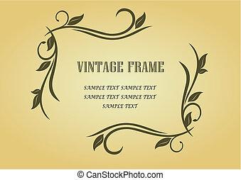 Un marco de vintage