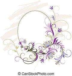 Un marco decorativo con adornos florales