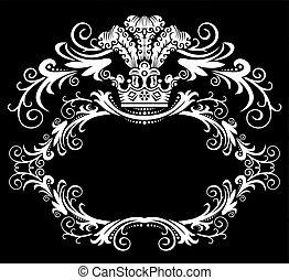 Un marco decorativo con corona