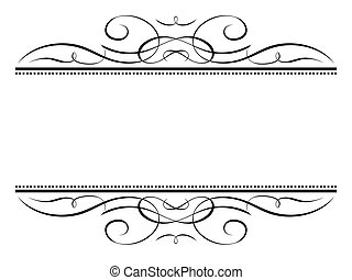 Un marco decorativo de caligrafía vignette ornamental